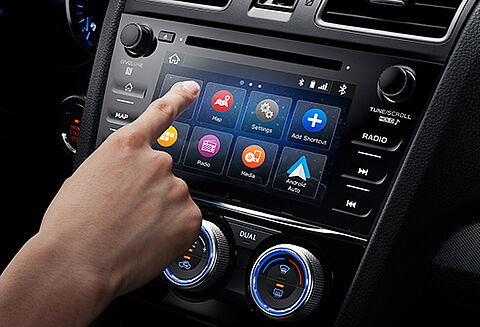 Controllo tramite touch screen