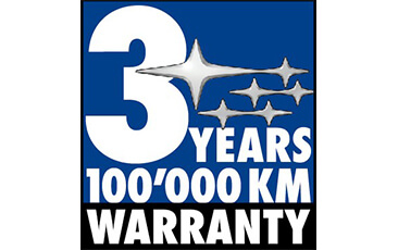 Warranty 3 Years - 100'000 km